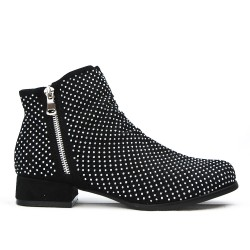 Black ankle with rhinestones