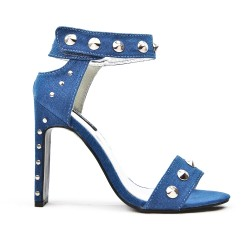 Blue sandal with studs