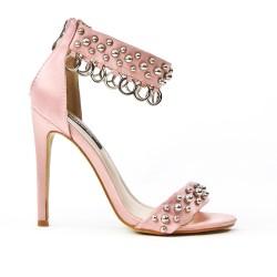 Sandale rose avec anneaux
