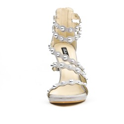 Gray sandal with multiple bridles