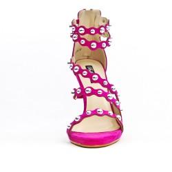 Sandale fushia à multibrides