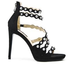 Sandale noire à multibrides