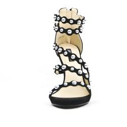 Black multi-strap sandal