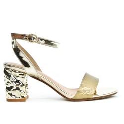 Sandale dorée à talon