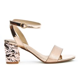 Champagne sandal with heel