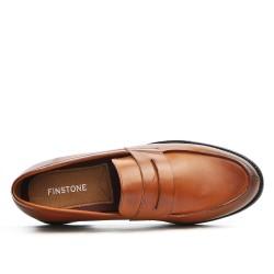 Cognac bridle loafer