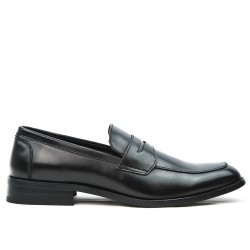 Black derby faux leather without lace