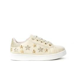 Basket blanche à motif étoile