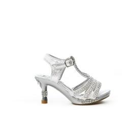 Sandale argent à de strass pour petite fille