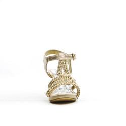 Sandale dorée à de strass pour petite fille
