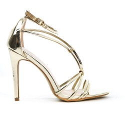 Golden sandal bridle with high heel