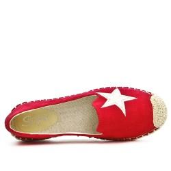Espadrille rouge à motif étoile