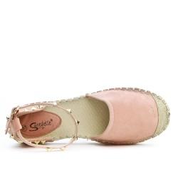 Sandale Espadrille rose