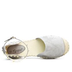 Sandale Espadrille gris