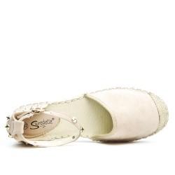 Sandale Espadrille beige
