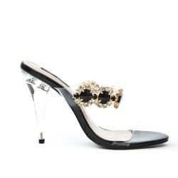 Black jewelry sandal