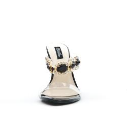 Sandale à bijoux noir