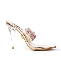 Pink jewelry sandal