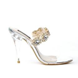 Silver jewelry sandal