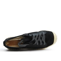 Black sneaker tennis shoe