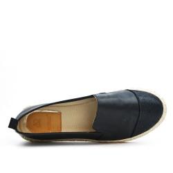 Espadrille noir en simili cuir