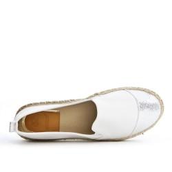 Espadrille blanc en simili cuir