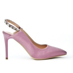 Open back pink pump
