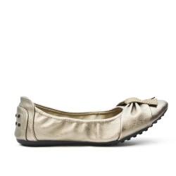 Ballerine confort gris en simili cuir