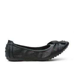 Ballerine confort noire en simili cuir