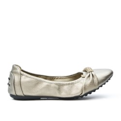 Gray comfort ballerina in faux leather