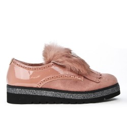 Pink derby yoke fur