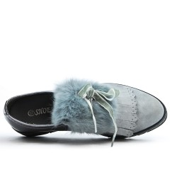 Gray derby yoke fur