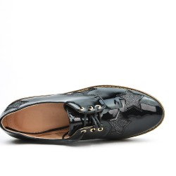 Black Derby with star pattern