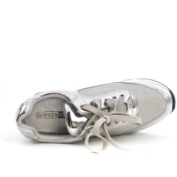Silver basket with air bubble soles