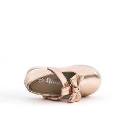 Ballerine champagne enfant à nœud