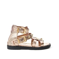 Champagne girl sandal with bangs