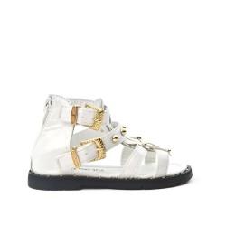 Sandale fille blanche à frange