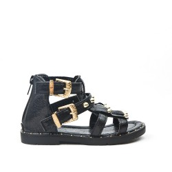 Black girl sandal with bangs