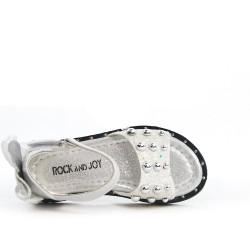 Sandale fille blanche à nœud au dos