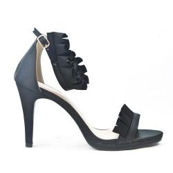 Black sandal with steering wheel