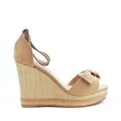 Wedge beige wedge sandal