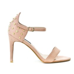 Pink imitation sandal with bead on the back
