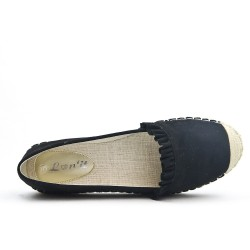 Black espadrille with ruffle