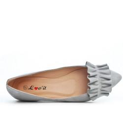 Gray ballerina with ruffle