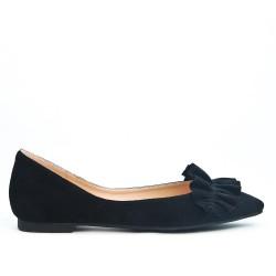 Black flounce ballerina