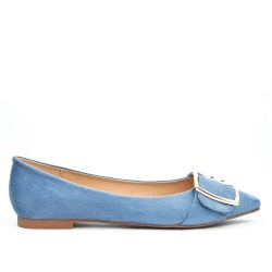 Blue ballerina with buckle