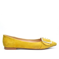 Yellow ballerina with buckle
