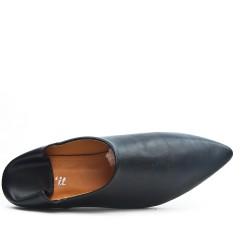 Zapato de confort negro en piel sintética
