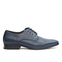 Navy lace derby