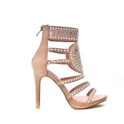 Sandale rose ornée de strass